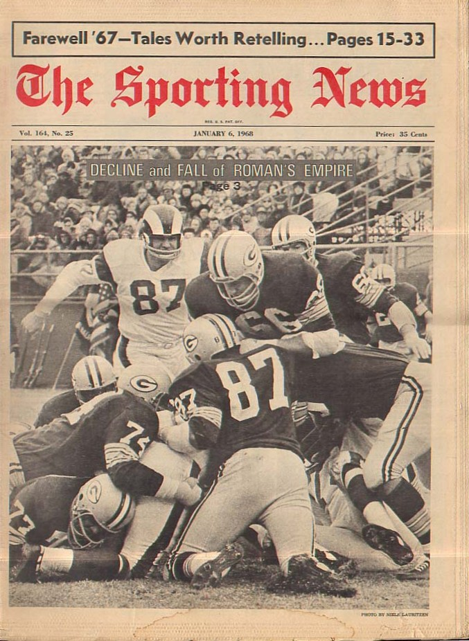 Hoos in the NFL Cover Photos (1960-1969)