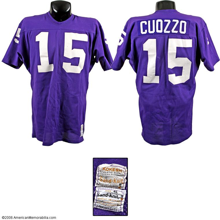 save off 547c4 d0e5e Hoos in the NFL Game Used Items - Gary Cuozzo